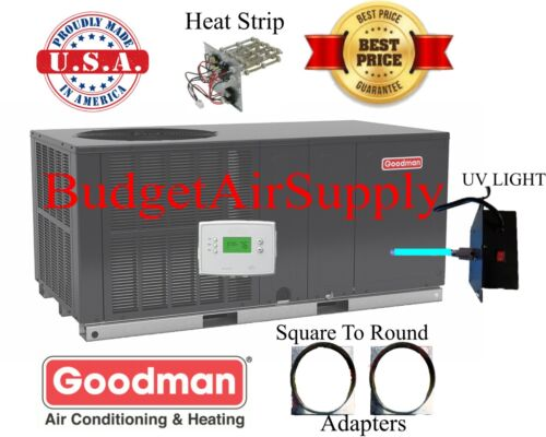 "2.5 Ton 14 Seer Goodman Heat Pump""all In One""package Unit Gph1430h41+sq2rd+tstat"