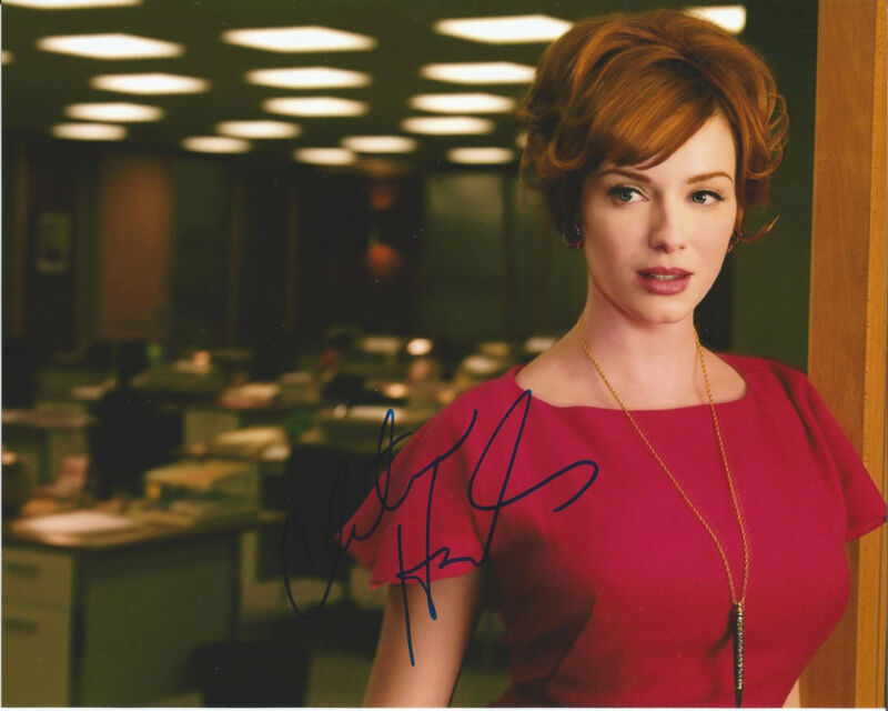 CHRISTINA HENDRICKS HAND SIGNED AUTHENTIC MAD MEN DRIVE FIREFLY 8X10 PHOTO B COA