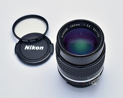 Used, Nikon NIKKOR 105mm f2.5 Ai-S Short Telephoto Lens Portrait READ  (#3024) for sale  Creswell