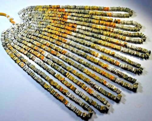"103-054 Bumble Bee Jasper Natural Gemstone Heishi Loose Bead 6.00mm 16"" 1 Strand"