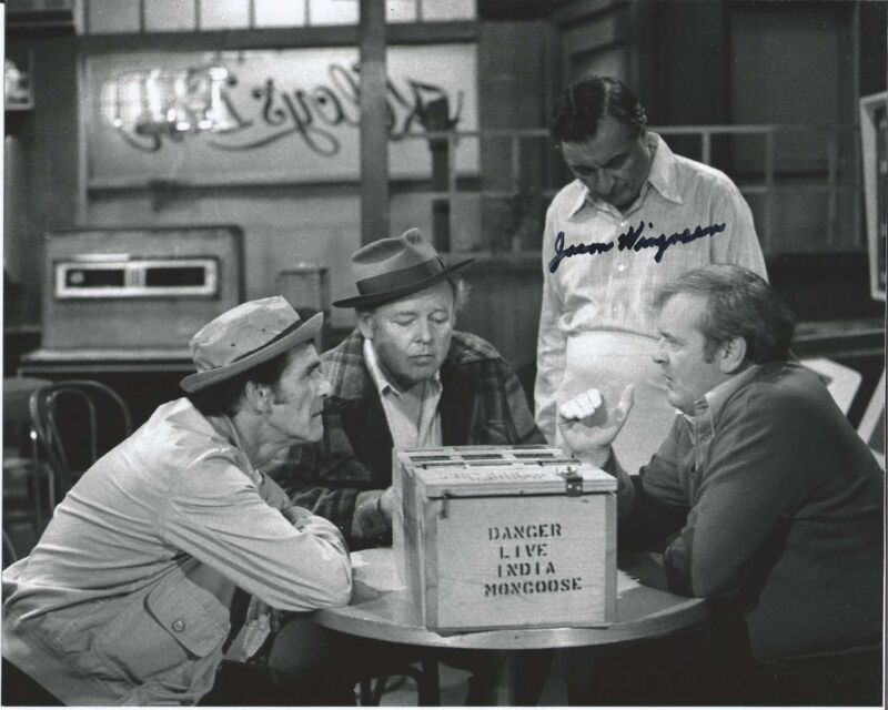 ACTOR JASON WINGREEN HAND SIGNED AUTHENTIC 'ALL IN THE FAMILY' 8X10 PHOTO w/COA