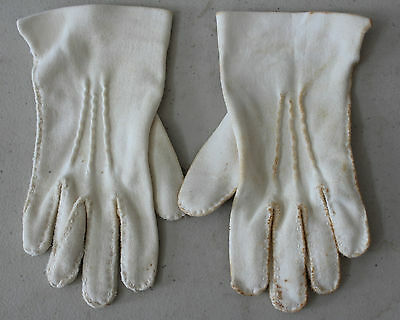 Vintage Little Girl Toddler White Dressy Gloves L#81 - White Gloves Toddler