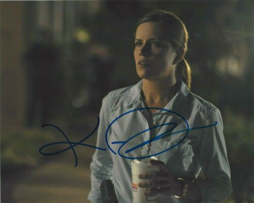 KIM DICKENS SIGNED GONE GIRL 8x10 MOVIE PHOTO w/COA FEAR THE WALKING DEAD SERIES