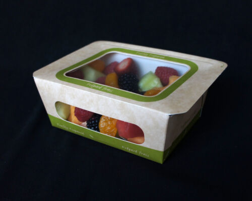 SMALL SALAD ENTREE FOOD BOX, Lot of 250, Heat sealed