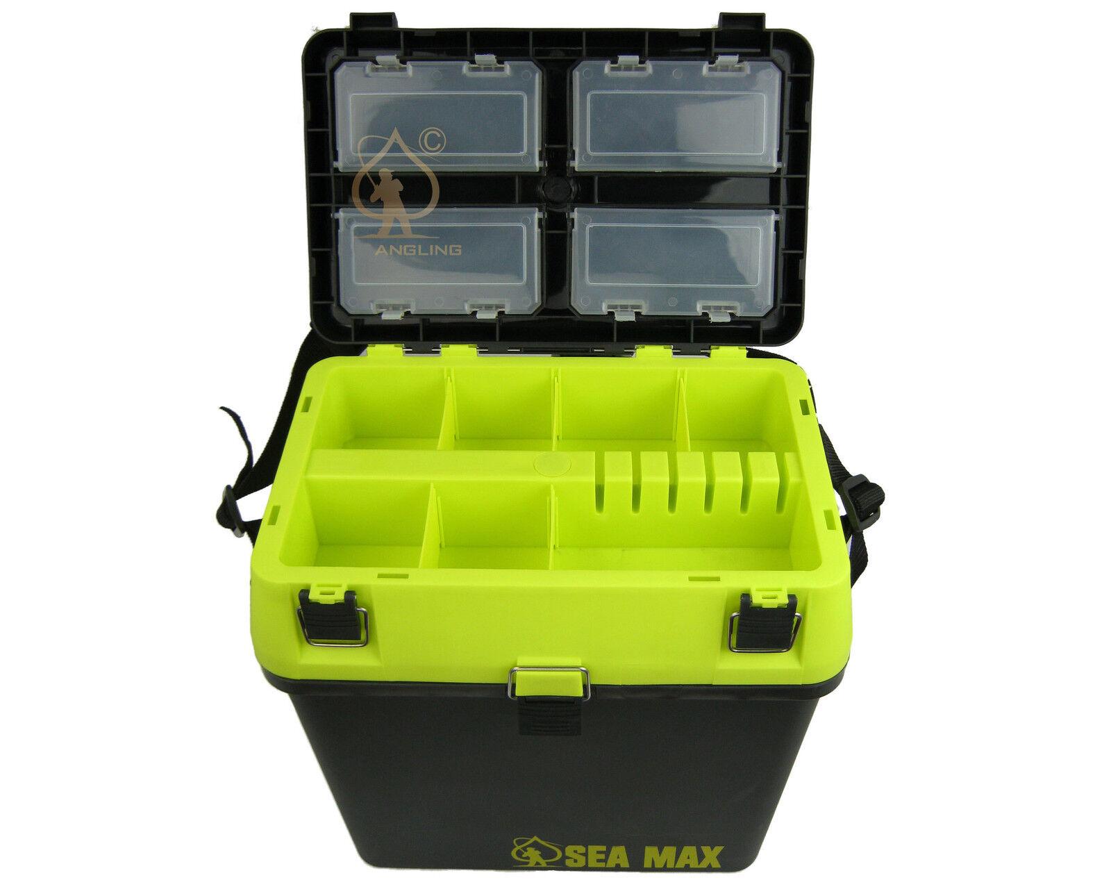 Sea fishing seat box rucksack sea max sea fishing tackle for Fishing tackle box backpack