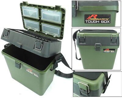 Fishing Seat Box Tackle Box Padded Strap & Seat Pad RODDARCH TOUGH BOX Original