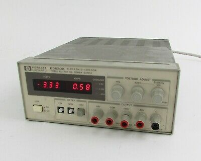 Hp Agilent E3630a Triple Output Dc Power Supply - 0 To 6v 2.5a