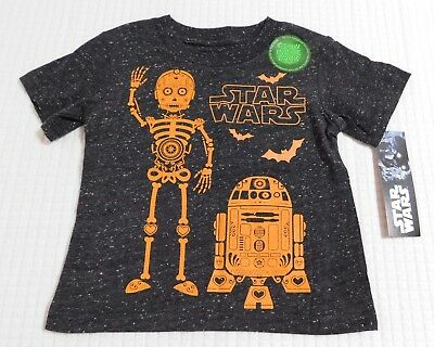Halloween Star Wars Day of the Dead Droids Toddler Boys SS Shirt (12 Months-5T)](Halloween Wars)