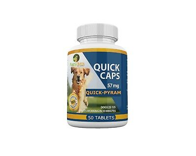 50 Tablets Quick Caps Flea Killer For DOGS 25- 125 Lbs. 57 Mg Quick Results!