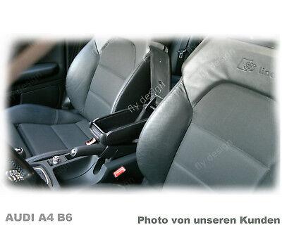 Audi a4 b6 Apoyabrazos Central de Cuero Negro Reposabrazos Resto Del Brazo...