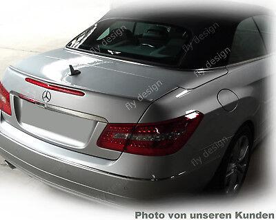 Mercedes W207 E-Klasse Heckspoilerlippe SCHWARZ GLANZ Abrisskannte Spoiler Apron