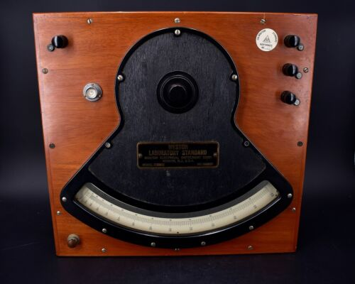 "15"" Antique Vintage Weston Laboratories Standard AC / DC Ammeter Model 328"