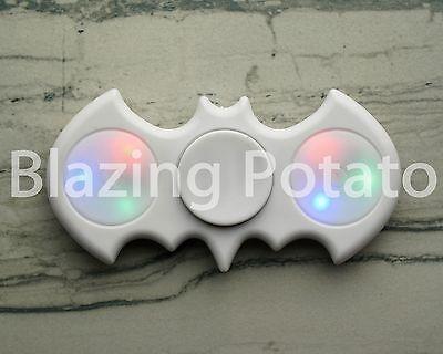 Light Up LED Bat Fidget Hand Spinner Figet Desk Toy Focus EDC ADHD ☆USA☆ WHITE