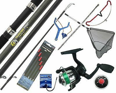 COMPLETE STARTER FISHING TACKLE SET KIT WITH HUNTER PRO® ROD REEL TACKLE & NET