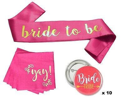 Classy Bachelorette Party Mini Decorations Kit (Bride Tribe, Bride to Be, Yay!)