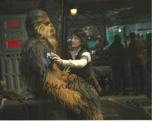 ACTRESS HARRIET WALTER SIGNED STAR WARS THE FORCE AWAKENS 8x10 MOVIE PHOTO w/COA