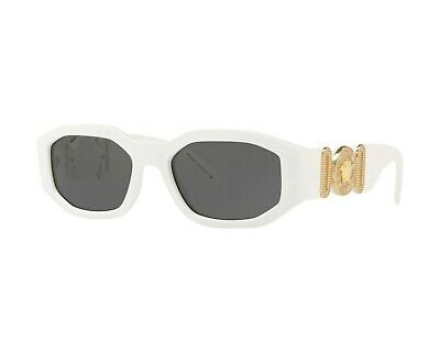 NWT Versace Sunglasses VE 4361 401/87 White / Gray 53 mm  NIB
