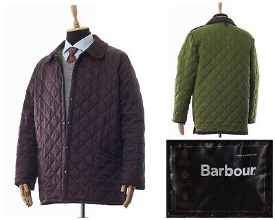Mens BARBOUR Liddesdale Jacket Quilted Quilt Coat Brown Size XL