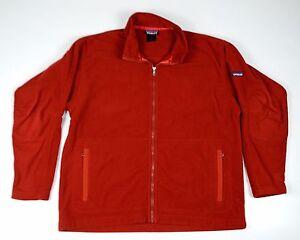Men-039-s-Patagonia-Synchilla-Red-Fleece-Full-Zip-Jacket-Sweater-Top-Size-XL