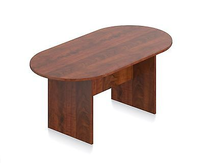 6 Ft. Conference Boardroom Racetrack Table In Dark Cherry Finish