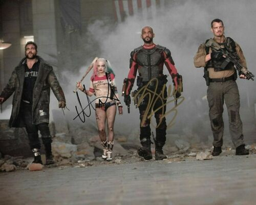 """Will Smith / Margot Robbie """"suicide Squad"""" Autographed Signed 8x10 Photo Reprint"""