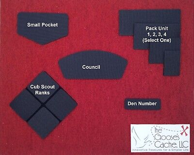 Blue Sew-on Hook and Loop for Attaching Patches to Cub Scout Shirts