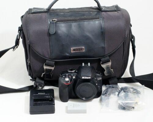 Nikon D3300 24.2MP Digital SLR Camera BLACK Body ONLY 14K SHUTTER COUNT