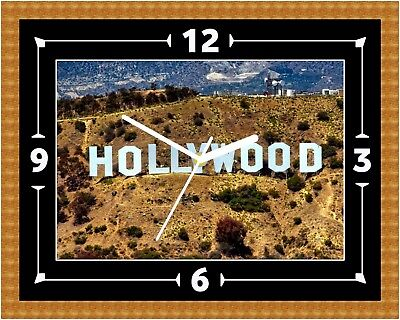 Hollywood Sign Wall Clock Gift Present Christmas Birthday(Can Be - Personalised Hollywood Sign