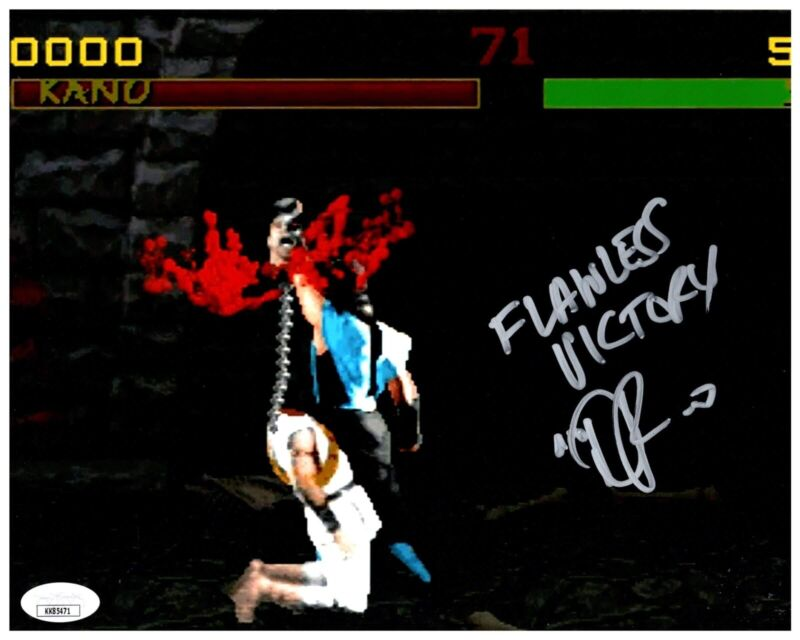 DANIEL PESINA signed 8x10 Photo MORTAL KOMBAT Video Game Sub Zero JSA