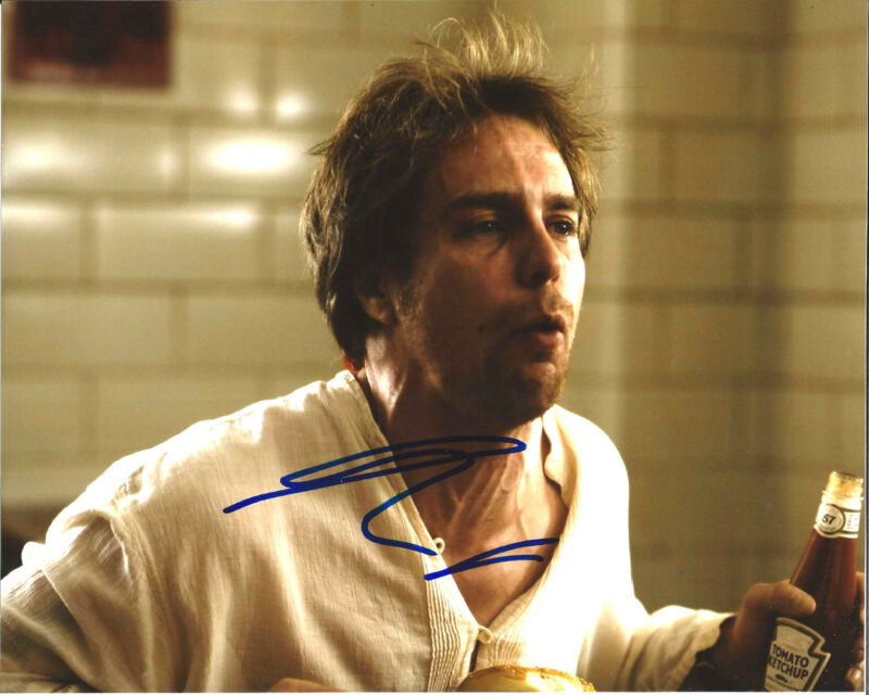 ACTOR SAM ROCKWELL SIGNED MOON 8X10 PHOTO W/COA CONFESSIONS OF A DANGEROUS MIND