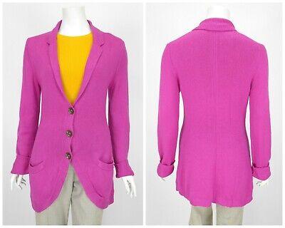 Womens IRIS VON ARNIM Knit Jumper Cardigan 100% Cashmere Pink Pockets Size L