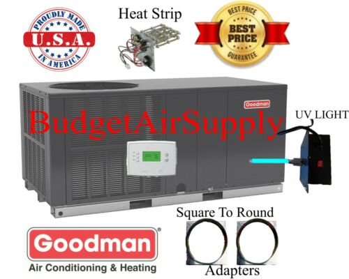 "4 Ton 14 Seer Goodman Heat Pump""all In 1""package Unit Gph1448h41+sq2rd+tstat+uv"