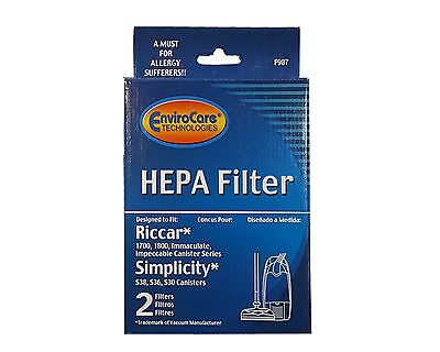 Riccar 1700 1800 HEPA And Charcoal Filter Set RF17 Also Will Fit Simplicity M...