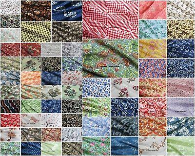 100% Natürliche Stoffe (Indische Hand Block Print 100% Baumwolle Stoff natürlich bedruckt handgemacht)