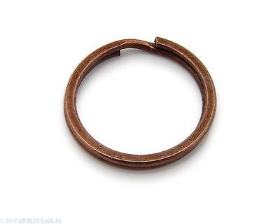 Schlüsselringe / split Rings 25 mm Durchmesser Farbe Antik Kupfer 2 Stk