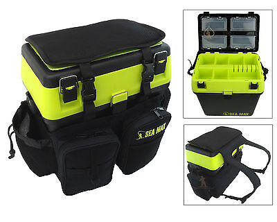 SEA FISHING SEAT BOX & RUCKSACK SEA MAX SEA FISHING TACKLE BOX BACKPACK RUCKSACK