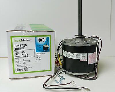 1075 volts Ball Bearing Condenser Motor Century Electric//AO Smith Motors Co A.O 1.5 Amps 48 Frame 1075 RPM Smith 790A 1//2 HP