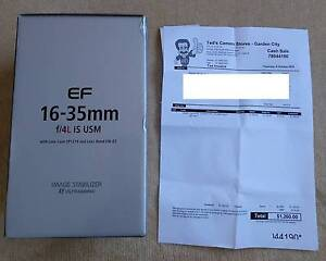 Canon EF 16-35mm F4 IS Lens - Aus Warranty Oct 2017 Ryde Ryde Area Preview