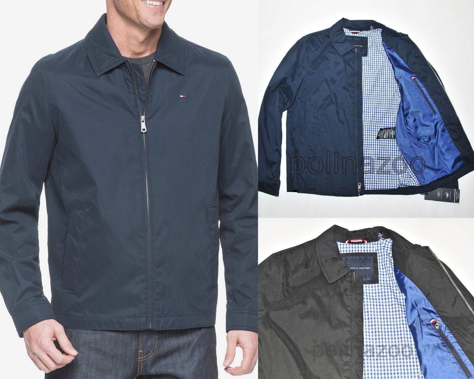 Tommy Hilfiger Men's Lightweight Full Zip Jacket Black Navy