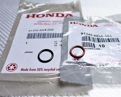 OEM HONDA Power Steering Pump Inlet & Outlet Line Rubber ORing Gasket Seals