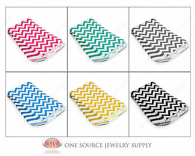 Lots Of 100 Chevron Merchandise Bags Gift Bags Store Bags Paper Bags Retail Bags
