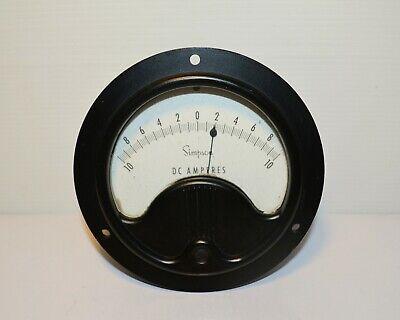 Simpson Nos Vintage Gauge Dc Amperes Meter