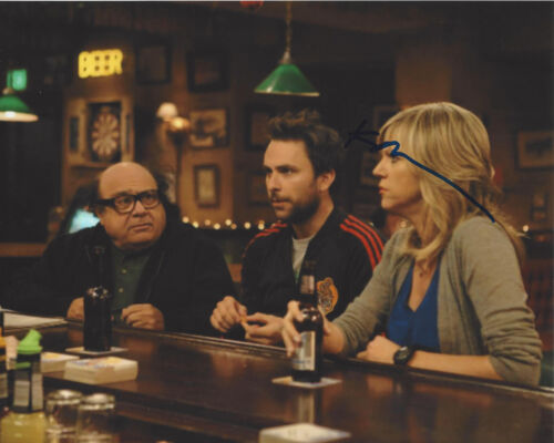 KAITLIN OLSON SIGNED IT'S ALWAYS SUNNY IN PHILADELPHIA 8x10 PHOTO D COA ACTRESS