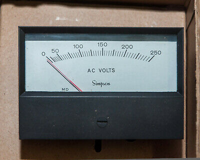 Simpson Meter Model 553 0-250 Ac Volts