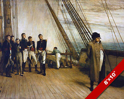 Napoleon Aboard Hms Bellerophon Ship Surrender Painting Art Real Canvas Print