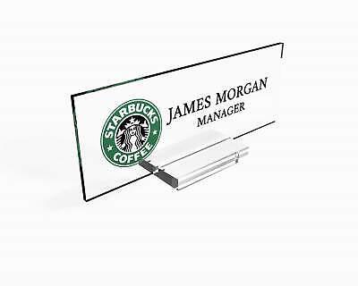 Personalized Nameplate Desk Decor Office Unique Gift Custom Logo Tech Desk Custo