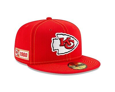 Kansas City Chiefs New Era 2019 NFL Sideline Road 59FIFTY Fitted Hat -