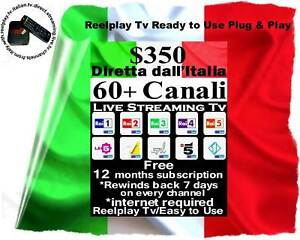 ON SALE REELPLAY ITALIAN BOX 60 LIVE CHANNELS 12 MONTHS VIEWING