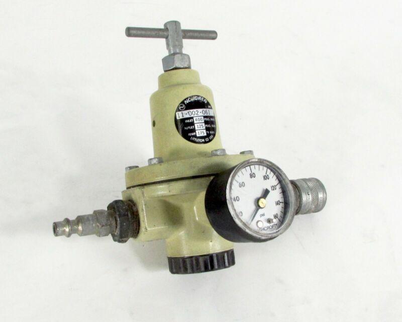 Norgren 11-002-061 Air Pressure Regulator Inlet 400 PSIG, Outlet 125 PSIG 175°F