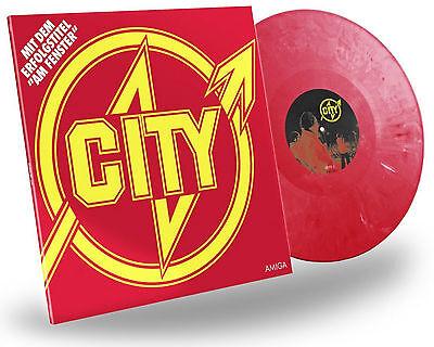 """City """"am fenster"""" farbige Vinyl LP NEU 2016 Wiederveröffentlichung DDR Rock"""